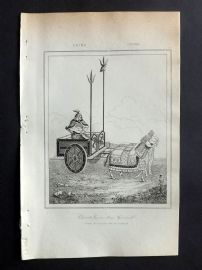 L'Univers C1850 Antique Print. Chinese War Chariot & General, China 07